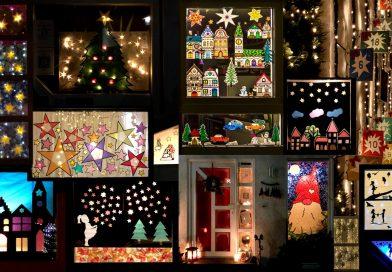 Adventsfenster-Collage